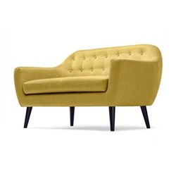 Ritchie 2 seater sofa, H86 x W148 x D85cm, ochre yellow