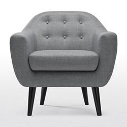 Ritchie Armchair, H86 x W83 x D85cm, pearl grey
