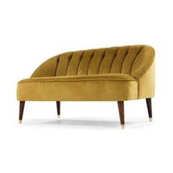 Margot 2 seater sofa, H72 x W130 x D73cm, antique gold velvet