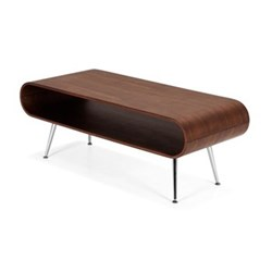 Hooper Storage coffee table, H45 x W120 x D50cm, walnut veneer