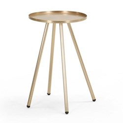 Alana Bedside table, H59 x W41 x D41cm, brushed brass