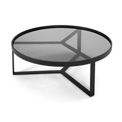 Aula Coffee table, H35 x W90 x D90cm, black and grey metal
