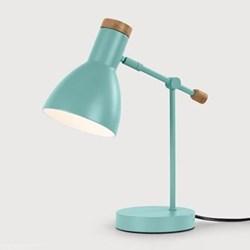Cohen Bedside table lamp, Shade D12.5 x H17cm, Base D13 x H2.5cm, Stem 23cm, arcade green metal