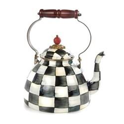 Courtly Check Tea kettle, 2.3L, enamel