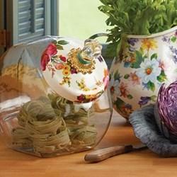 Flower Market Cookie jar with lid, H20 x W15cm, white