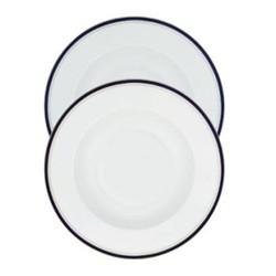 Nuit Bleue Platine Small rim soup plate, 20cm