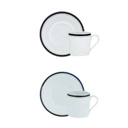 Nuit Bleue Platine Coffee cup and saucer