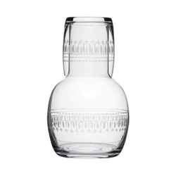 Ovals Carafe and glass, 20cm