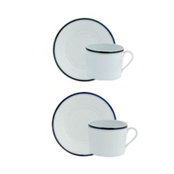 Nuit Bleue Platine Breakfast cup and saucer