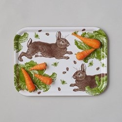 Classic Rabbit & Cabbage Small tray, 27 x 20cm