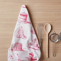 Jelly & Cake Tea towel, 50 x 70cm, raspberry