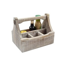 Nordic Table caddy with 4 compartments, 29 x 18.5 x 22cm, white