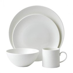 Gio 16 piece tableware set, white