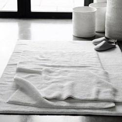 Ile de Re Bath mat, 60 x 60cm, white