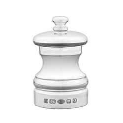 Capstan Pepper mill, 6.4cm, sterling silver