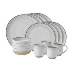 Ellen DeGeneres - Brushed Glaze 16 piece dinner set, white