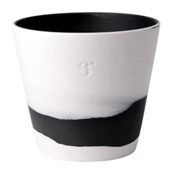 Burlington Planter, 15cm, black/white