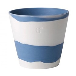 Burlington Planter, 15cm, pale blue/white