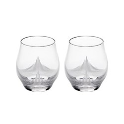 100 points Pair of shot glasses, clear