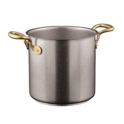1965 Vintage Stock pot, 5.5 litre - H18 x D20cm, stainless steel