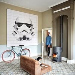 Star Wars - Stormtrooper Wall decoration - icon, 140 x 160cm, white