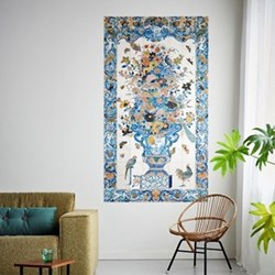 Art - Tile Panel with Flowers Wall decoration, 112 x 196cm