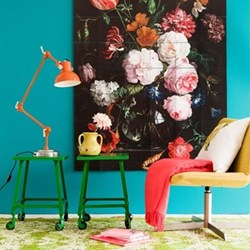 Art - Still Life with Flowers Wall decoration, 120 x 180cm
