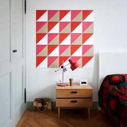 Graphic - Loco Yellow Pink Wall decoration, 25 cards (20 x 20cm)