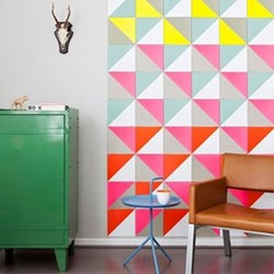 Graphic - Loco Yellow Pink Wall decoration, 50 cards (20 x 20cm)