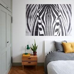 Photographer - Zebra Wall decoration, 120 x 180cm, black/white