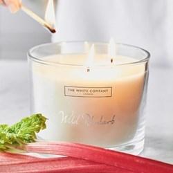 Rhubarb Large 3 wick candle, H11 x Dia14cm