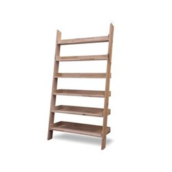 Hambledon Wide shelf ladder, H180 x W96 x D33cm, oak