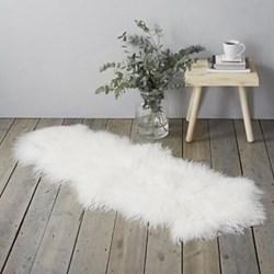 Tibetan Sheepskin rug, W55 x L80cm, white