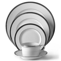 Symphonie Platine Large rim soup plate, 24cm