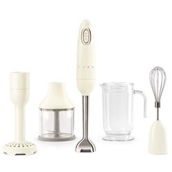 50's Retro Hand blender with accessories, cream