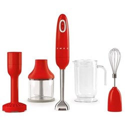 50's Retro Hand blender with accessories, red