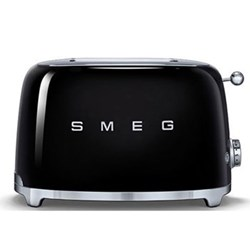 50's Retro 2 slice toaster, black