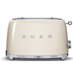 50's Retro 2 slice toaster, cream