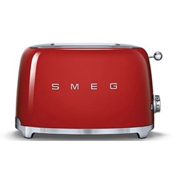 50's Retro 2 slice toaster, red