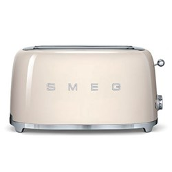 50's Retro 4 slice toaster - 2 slot, cream
