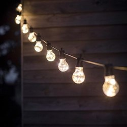 Festoon lights, L4.5m - 10 Bulbs