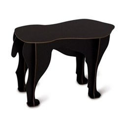 Sultan Dog stool/side table, H34 x L52 x W25cm, black