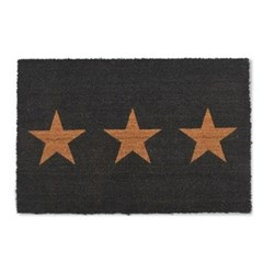 3 Star Doormat, large, charcoal
