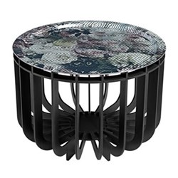 Medusa Coffee table with removable tray, D46 x H33cm, black
