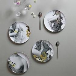 Yuan Parnasse Set of 4 extra melamine plates, D25cm, multi