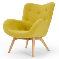 Doris Accent chair, H89 x W74 x D84cm, shetland moss