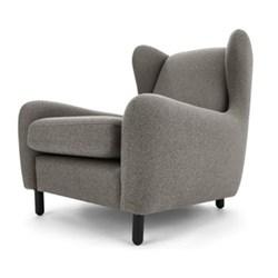 Rubens Wingback armchair, H88 x W83 x D100cm, nickel grey