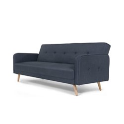 Chou Sofa bed, H82 x W210 x D88cm, quartz blue