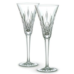 Lismore Pair of toasting flutes