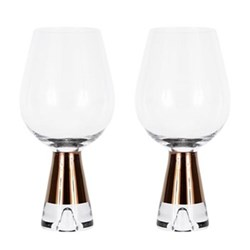 Tank Pair of wine glasses, W9 x H18.6cm, glass